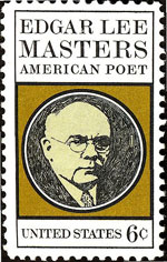 Edgar Lee Masters on a US stamp